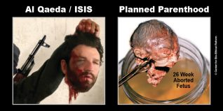 "GAP Sign - ""Al Qaeda / ISIS - Planned Parenthood"""