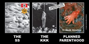 "GAP Sign - ""The SS - The KKK - Planned Parenthood"""